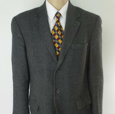 44 R (42 L) Gianfranco Ruffini Gray Tweed Wool Mens Jacket Sport Coat Blazer