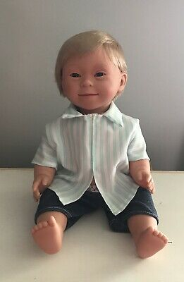 Down Syndrome Baby Doll ~ Blonde Hair Boy 40cm ~ Anatomically Correct