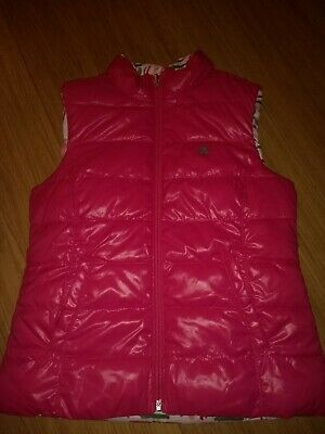 Benetton Girls Gilet Body warmer Reversible Size M age 7/8