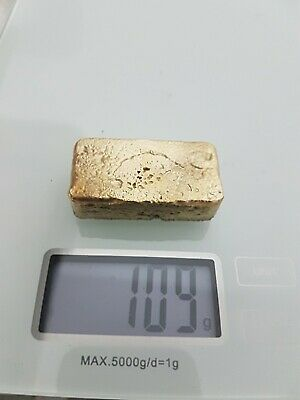 68 grams Scrap gold bar for Gold Recovery melted different computer coin pins