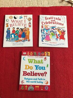 3 Book Bundle Religion Beliefs Festivals Childminder School Teacher Assistant
