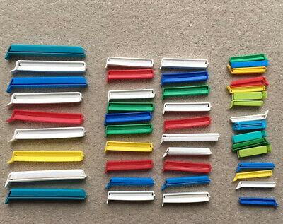 Lakeland & Klippits Food Bag Airtight Sealing Clips X 30 Assorted Colours Sizes