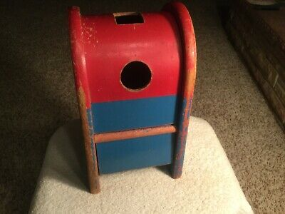 Wondrous Vintage 1960S Playskool Postal Station Wood Mailbox Toy Gmtry Best Dining Table And Chair Ideas Images Gmtryco