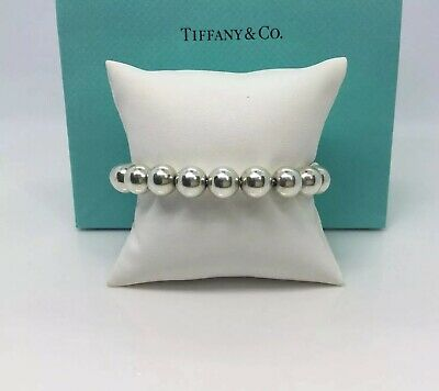 """Authentic-Tiffany & Co. Sterling silver 10mm. Hardware-Bead Ball Bracelet 7"""""""