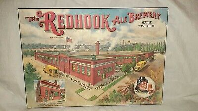 "The REDHOOK ALE BREWERY Seattle, Washington Picture Board 22 3/4"" x 16"" x 3/8"""
