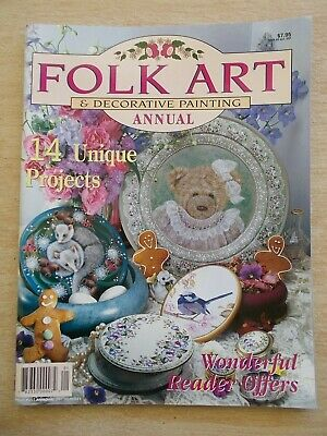 Folk Art & Decorative Painting Vol 5 #4~Teddy~Wren~Possums~Carnations~Flowers...