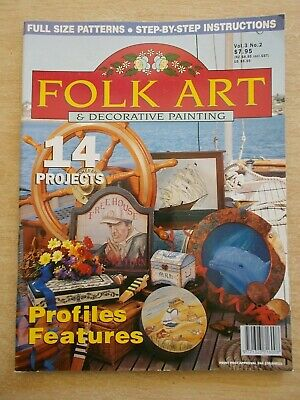 Folk Art & Decorative Painting Vol 3 #2~Dolphin~Door Wedges~Ships~Houses~Roses..