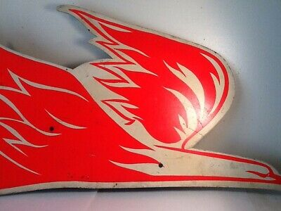 Vintage The Pure Oil Company Firebird Motor Oil Store Display Advertising Sign