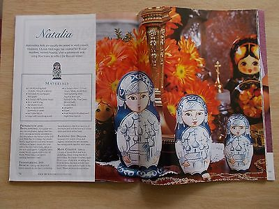 Folk Art & Decorative Painting Vol 5 #1~Natalia~Flowers~Doves~Teddies~Fruit~