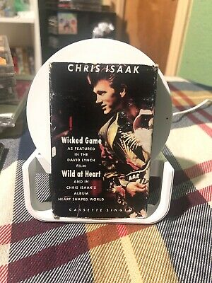 Chris Isaak Wicked Game Cassette Single 1990 reprise Wrapped RaRe Vintage