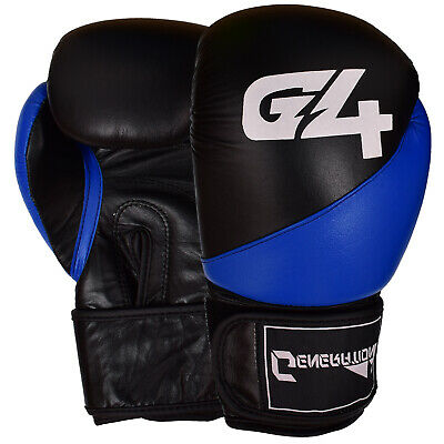 Leather Boxing Gloves MMA Training Fight Sparring Punching kickboxing Muay Thai