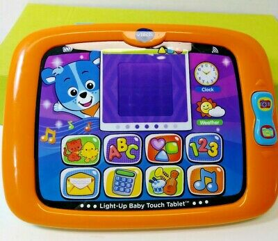 VTech Light-up Baby Touch Tablet Children's Learning Activity Toy Lights, Music