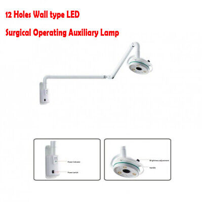 12 Hole Wall type LED Surgical Operating Auxiliary Lamp movable adjustable