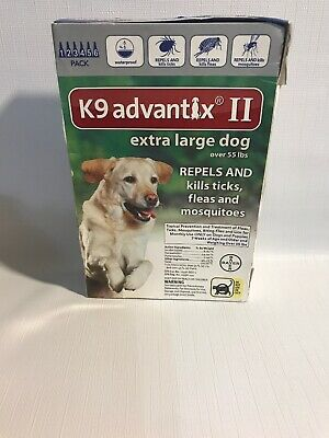 K9 ADVANTIX II for Extra Large Dogs over 55 lbs (6 PACK)