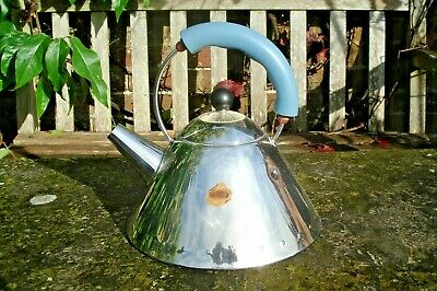 Alessi Michael Graves  Hob Kettle Stove Top blue handle