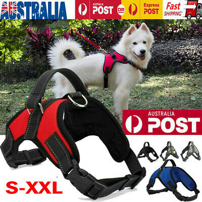 No-pull Dog Harness Pet Puppy Large Dog Vest Padded Handle w/ Adjustable S-XL