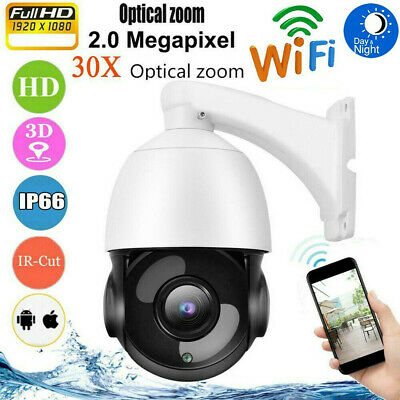 1080P IP Camera 30X Optical Zoom 2MP HD Outdoor Home Wireless CCTV Security