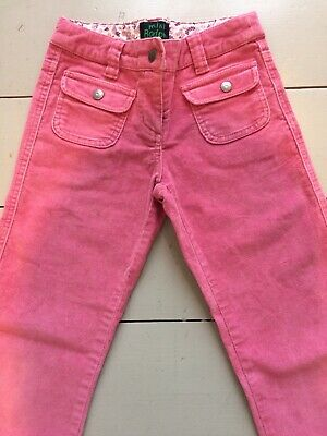Excellent Condition Girls Mini Boden Age 7 Pink Cord Bootcut Jeans