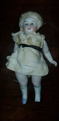 "Antique Abg Bisque Dollhouse Doll 5 1/2"" Tall Marked 95 1 1/2""J"