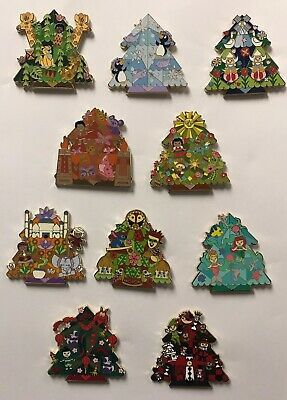 Disney Parks Disneyland 2019 It's a Small World Holiday Mystery LR 10 Pin Set