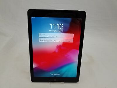 "Apple iPad 6th Gen 9.7"" A1954 Space Gray 32GB WiFi Only No Touch ID"