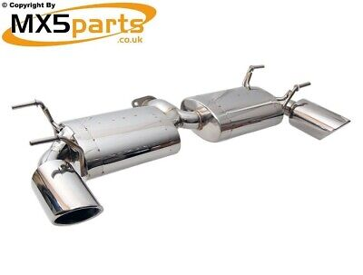 MX5 Stainless Steel Rear Exhaust Silencer Mazda MX-5 Mk3 NC 1.8 2.0 2005>2015