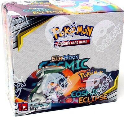 Pokemon Sun & Moon Cosmic Eclipse Booster 6 Box Case Blowout Cards