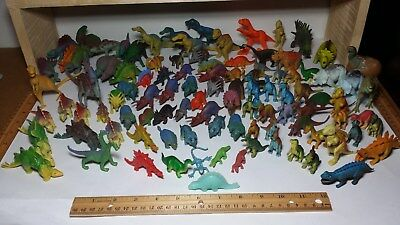Dinosaur Toy LOT Variety Vintage & Modern Small Size Action Figures Toys DINO