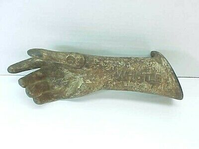 Fabulous Whistle Soda Antique Cast Iron Hand Display Rare