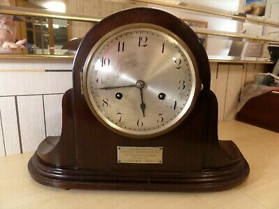Very Nice Running Junghens Chiming Mantle Clock With Inscription Dating To 1928