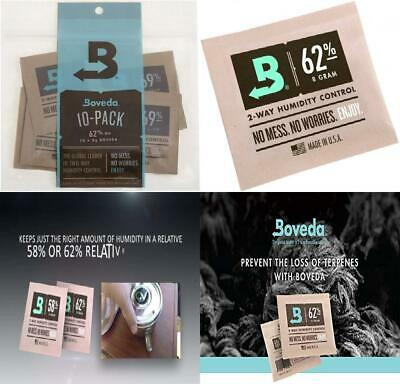 Boveda 62-Percent RH 2-Way Humidity Control, 8 Gram - 10 Pack 62% Rh Level