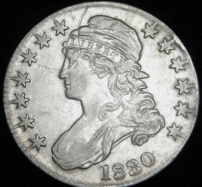 1830 Capped Bust Half Dollar  Silver Circulated A40-646