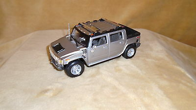1/27 Scale  Die Cast By Maisto No Year Hummer H2   4 Door Suv Pick Up  Silver