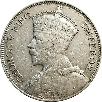 1933 New Zealand Silver Half Crown, KM# 5, XF to AU, Obverse Cleaned