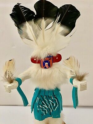 Authentic Native American Kachina Signed Navajo Spotted Corn Numbered Jacidal