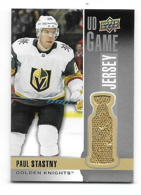 2019-20 Upper Deck Series 1 UD Jersey UD-PS Vegas Knights Paul Stastny GOLD !!!