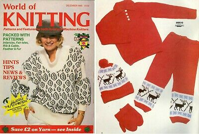 World Of Knitting - Patterns For Hand & Machine Knitters 1985