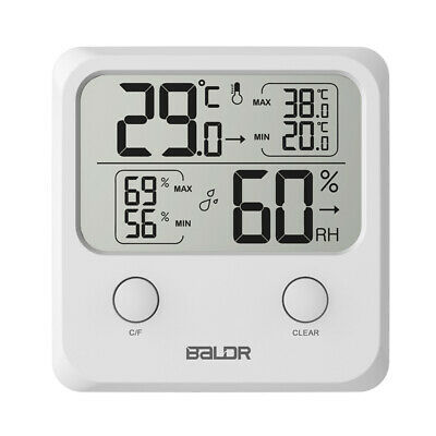Hygrometer Hygro-thermometer Electronic Temperature Wall Humidity Digital LCD
