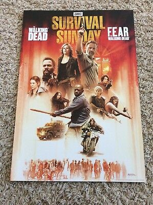 AMC Finale Walking Dead SURVIVAL SUNDAY Poster Thick Paper Fear TWD Premier 2018