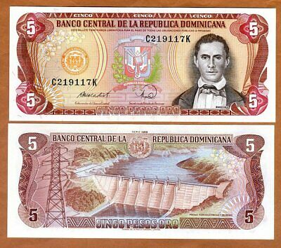 DOMINICAN REPUBLIC 1 Peso Banknote World Paper Money Currency Pick p126c 1988