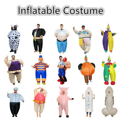 Inflatable Clown Pig Costume Suit Adult Blow Up Christmas Cosplay Fancy Dress AU