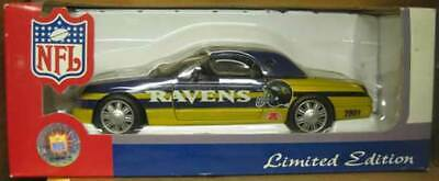 NFL BALTIMORE RAVENS 2002 FORD THUNDERBIRD Die Cast CAR, 1:24 SCALE HARDTOP
