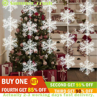 New Year Gift Valentine's Day White Snowflake Decor Window Hang Party Ornaments