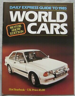 1985 Daily Express Motor Guide to world cars