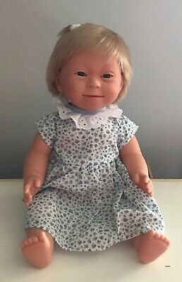 Down Syndrome Baby Doll ~ Blonde Hair Girl 40cm ~ Anatomically Correct