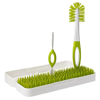 Boon Trip Travel Innovative Drying Rack & Bottle Brushes - (Green/White)