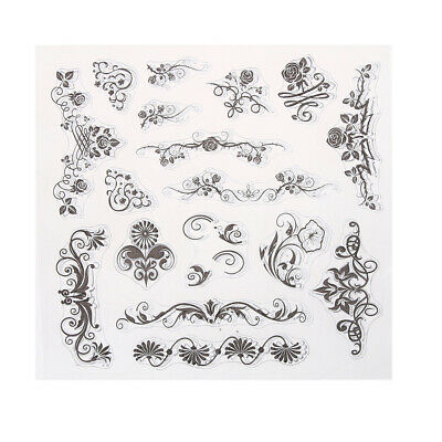 Transparent Clear Stamp DIY Silicone Seals Scrapbooking Card 15 NEW