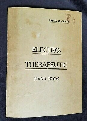 Electro Therapeutic Handbook Quack Medicine Trevert Manhattan Electrical Supply