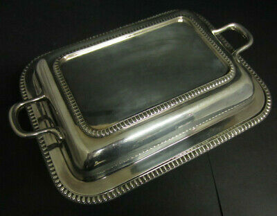 Antique Edwardian Silver Plated Tureen / Entree Dish In The Georgian Style