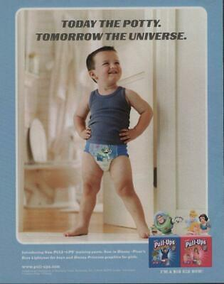 2003 Huggies Pull-Ups Diapers Print Ad Page Cute Little Boy Potty Training
